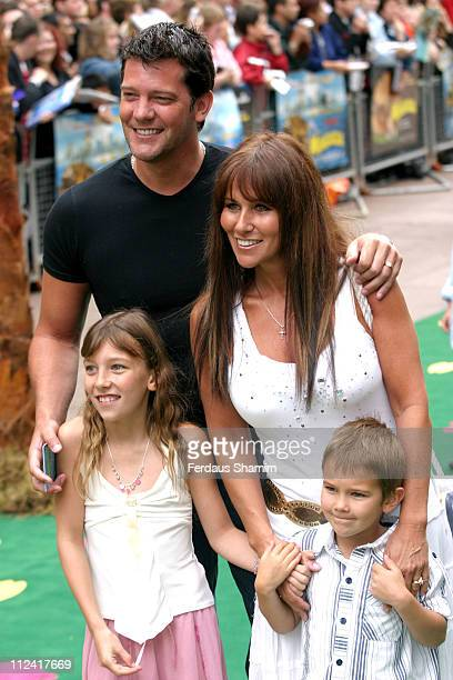Linda Lusardi and Family during Madagascar London Premiere Arrivals at Empire Leicester Square in London Great Britain