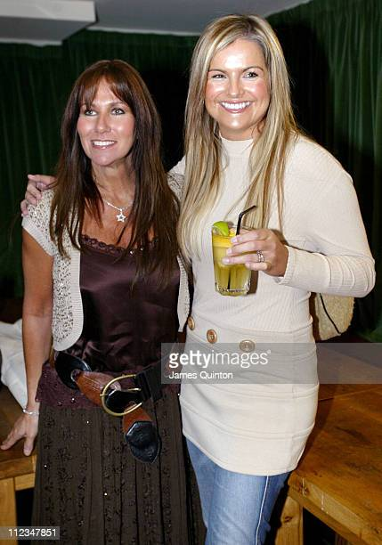 Linda Lusardi and Katy Hill during Morgan Spring/Summer 2006 Fashion Show at Guanabara in London Great Britain