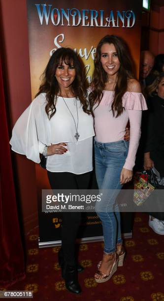 Linda Lusardi and Lucy Kane attend the press night performance of Wonderland at New Wimbledon Theatre on May 3 2017 in Wimbledon England