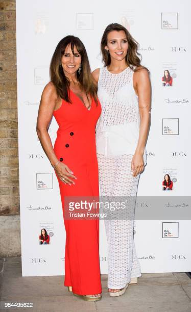 Linda Lusardi and Lucy Lusardi attend a party to launch Andrea McLean's new book Confessions of a Menopausal Woman at Devonshire Club on June 26 2018...