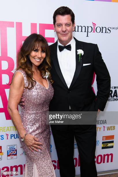Linda Lusardi and Samuel Kane attend the Rainbows Celebrity Charity Ball at Dorchester Hotel on June 1 2018 in London England