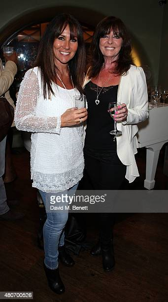 Linda Lusardi and Vicki Michelle attends the gala night performance of Dusty at the Charing Cross Theatre on July 14 2015 in London England