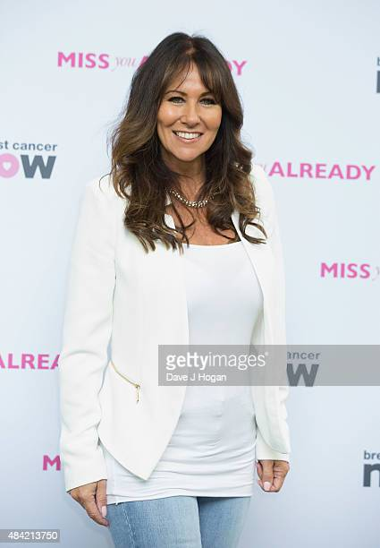 Linda Lusardi arrives at Miss You Already Pink Picnig at Manchester Square Gardens on August 16 2015 in London England