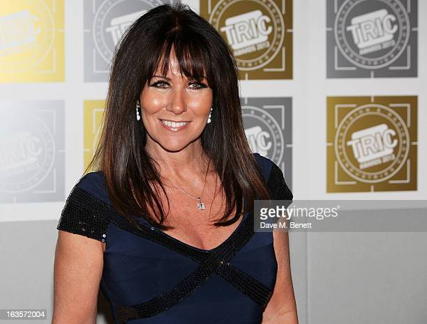 Linda Lusardi arrives at the TRIC Television and Radio Industries Club Awards at The Grosvenor House Hotel on March 12 2013 in London England