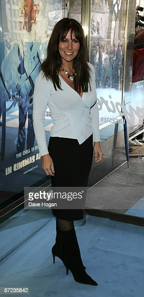 Linda Lusardi arrives at the UK Premiere of 'Ice Age 2 The Meltdown' at the Empire Leicester Square on April 2 2006 in London England