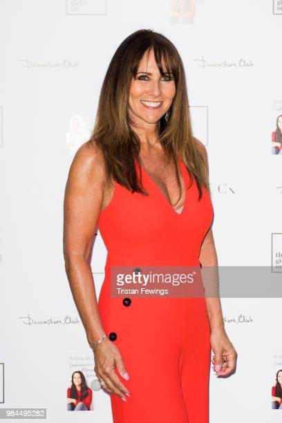 Linda Lusardi attends a party to launch Andrea McLean's new book Confessions of a Menopausal Woman at Devonshire Club on June 26 2018 in London...