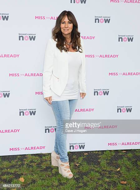 Linda Lusardi attends Miss You Already Pink Picnic at Manchester Square Gardens on August 16 2015 in London England