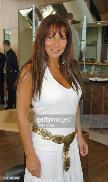 Linda Lusardi during Nick Leeson Signs His Book Back From The Brink Coping With Stress at Ubon in London June 22 2005 at Ubon Canary Wharf in London...