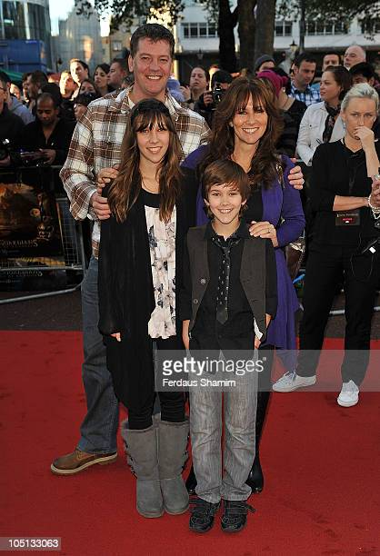 Linda Lusardi Sam Kane and family attend the UK premiere of 'Legend Of The Guardians' at Odeon West End on October 10 2010 in London England