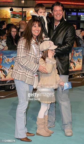 Linda Lusardi Sam Kane and family during Robots London Premiere at Vue Cinema in London Great Britain