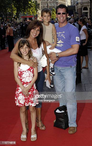 Linda Lusardi Sam Kane and family during Stormbreaker London Premiere Arrivals at Vue West End in London Great Britain