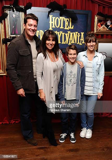Linda Lusardi Sam Kane their son Jack Kane and daughter Lucy Kane attend the Gala screening of 'Hotel Transylvania' at Soho Hotel on October 6 2012...
