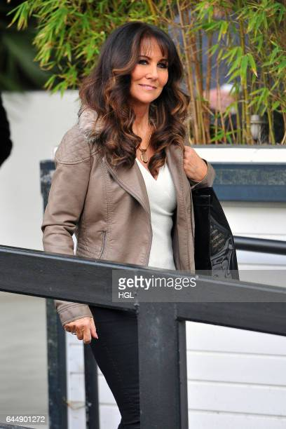 Linda Lusardi seen at the Loose Women Studios on February 24 2017 in London England