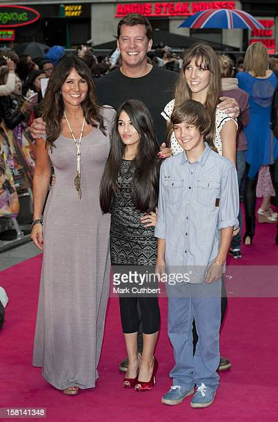 Linda Lusardi With Husband Sam Kane And Their Family Arriving For The Premiere Of Katy Perry Part Of Me 3D At The Empire Cinema Leicester Square...
