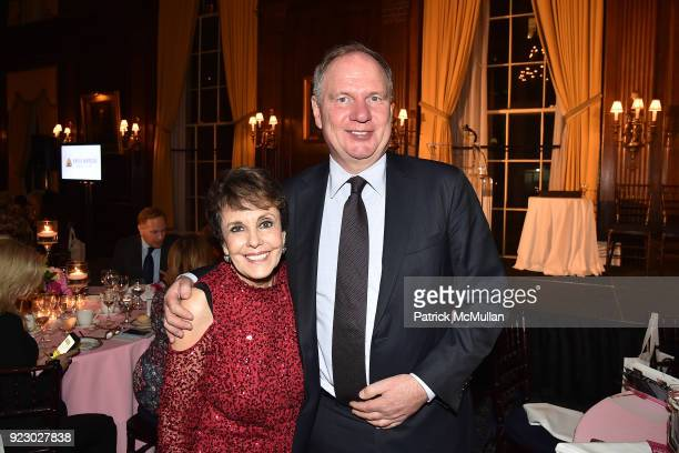 Linda Marshall and Achim Daub attend Symrise's Achim Daub ReVive's Elena Drell Szyfer honored at BEYOND BEAUTY Dinner 2018 Special Speaker Actor and...