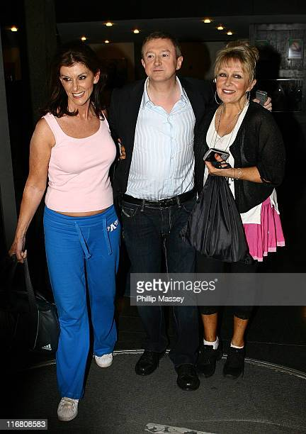 Linda Martin, Louis Walsh and Adele King aka Twink at the Late Late Show at RTE Studios on October 12, 2007 in Dublin, Ireland