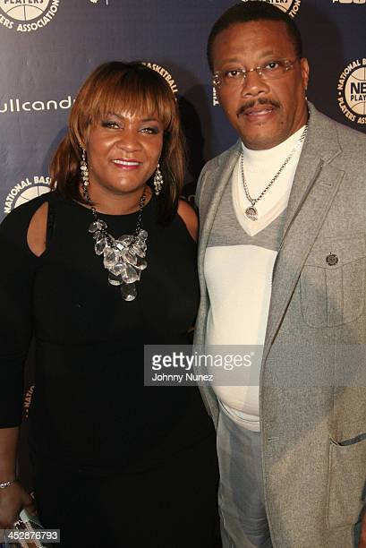 Linda Mathis and Judge Greg Mathis attend the NBA Players Association AllStar Gala on February 13 2010 in Dallas Texas
