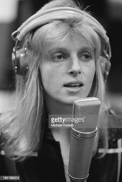 Linda McCartney of pop group Wings in a recording studio 21st November 1973