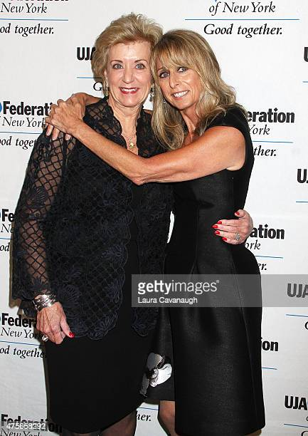 Linda McMahon and Bonnie Hammer, Chairman of NBCUniversal Cable Entertainment attend the UJA-Federation New York's Entertainment Division Signature...