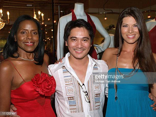Linda McNair Alan Del Rosario and Adrienne Janic during Fashion Party for Alan Del Rosario August 24 2006 at Linda McNair Boutique in West Hollywood...
