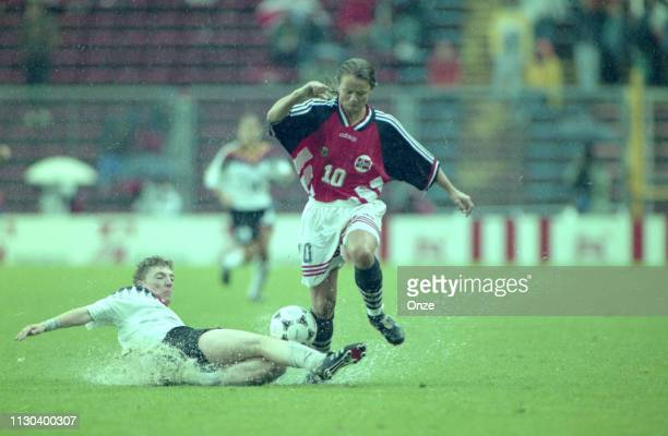 Linda Medalen of Norway during the Women's world cup final match betwen Germany and Norway on June 18th, 1995 in Rasunda Stadium, Stockholm, Sweden.