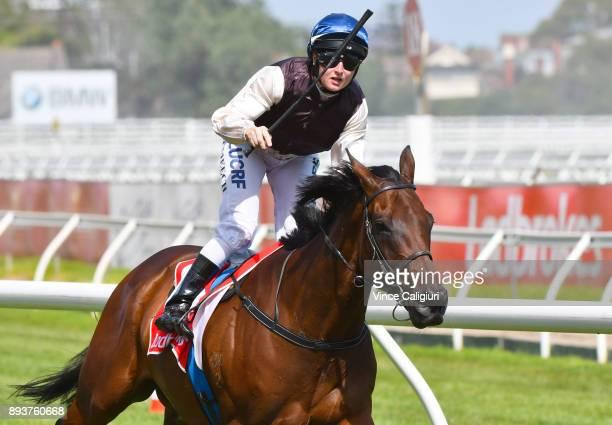 Linda Meech riding Etah James wins Race 6 during Melbourne Racing at Caulfield Racecourse on December 16 2017 in Melbourne Australia