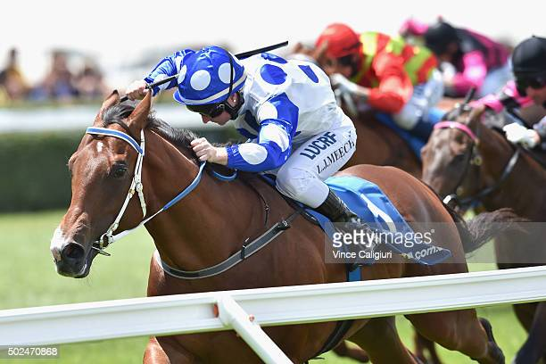 Linda Meech riding Hell of an Effort wins Race 2 during Melbourne Racing at Caulfield Racecourse on December 26 2015 in Melbourne Australia