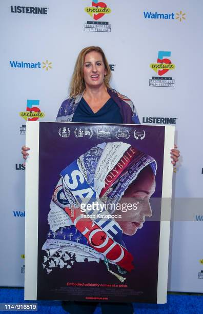 Linda Midgetti of Same God walks the blue carpet at the Geena and Friends event at the Crystal Bridges Museum of American Art on May 08 2019 in...