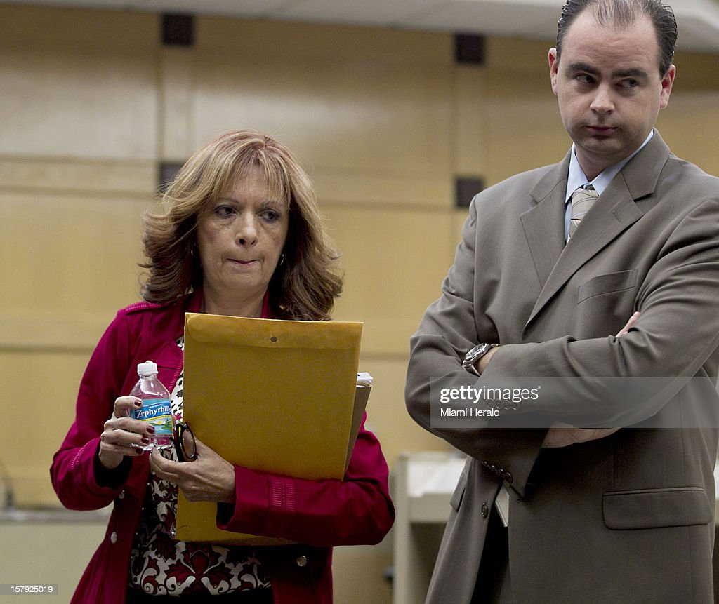 Linda Morrissey is seen after reading a statement at the sentencing of Randy H. Tundidor Jr. in Broward County Criminal Court in Ft. Lauderdale, Florida, Friday, December 7, 2012. Tundidor, 24, was sentenced to 40 years in prison after taking part in the brutal home-invasion murder of her husband Joseph Morrissey, a Nova Southeastern University professor, two years ago.