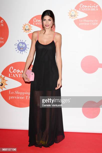 Linda Morselli attends Convivio photocall on June 5 2018 in Milan Italy