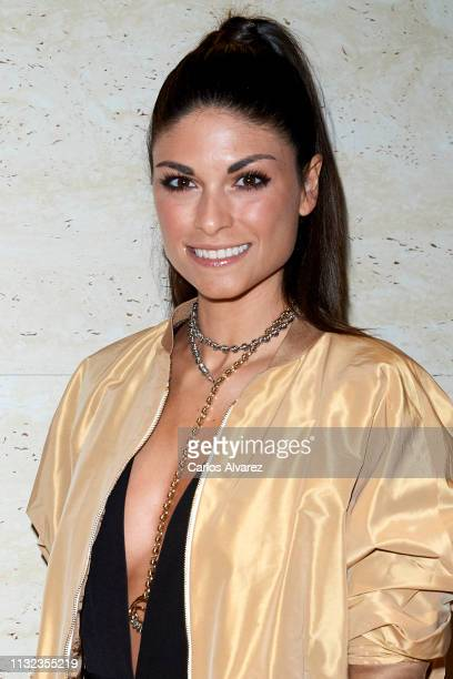 Linda Morselli attends Technogym Wellness Store opening on February 26 2019 in Madrid Spain