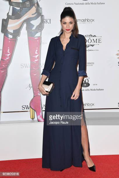 Linda Morselli attends the ADR Party during Milan Fashion Week Fall/Winter 2018/19 on February 24 2018 in Milan Italy