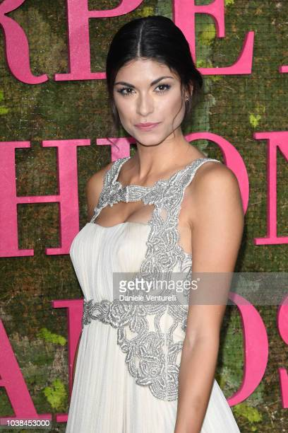 Linda Morselli attends the Green Carpet Fashion Awards at Teatro Alla Scala on September 23 2018 in Milan Italy