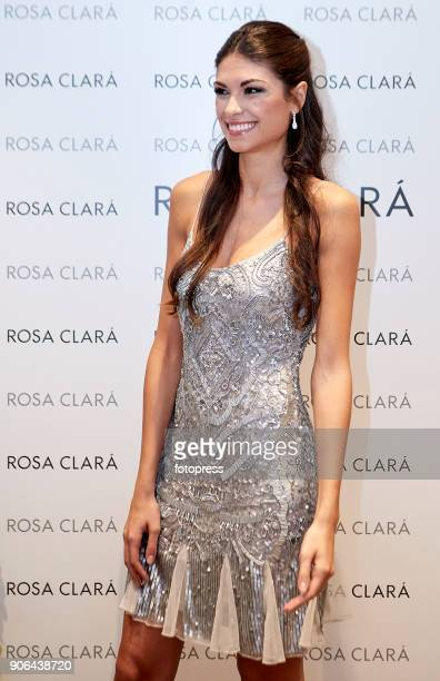 Linda Morselli attends the opening of Rosa Clara Store on January 18 2018 in Murcia Spain