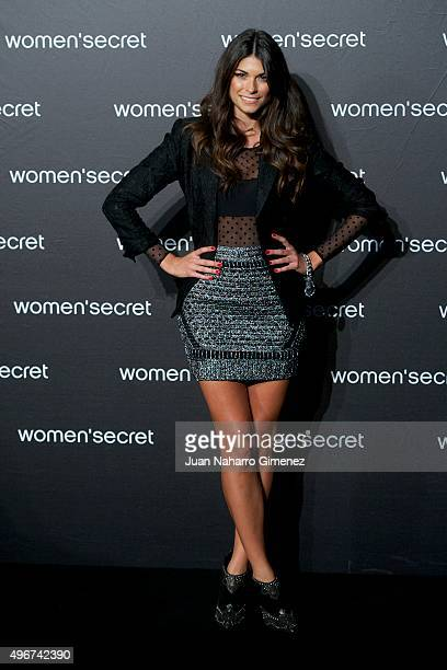 Linda Morselli attends to the presentation of the Women'secret videoclip at La Riviera on November 11 2015 in Madrid Spain
