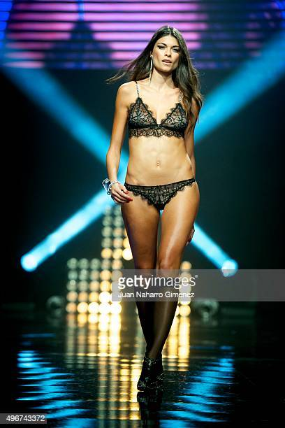 Linda Morselli walks on the runway during the presentation of the Women'secret videoclip at La Riviera on November 11 2015 in Madrid Spain
