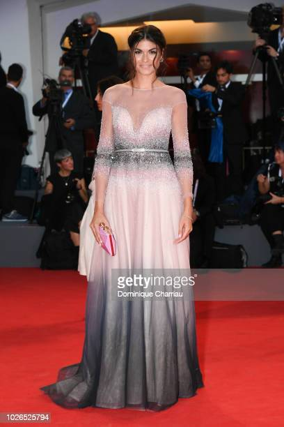 Linda Morselli walks the red carpet ahead of the 'At Eternity's Gate' screening during the 75th Venice Film Festival at Sala Grande on September 3...