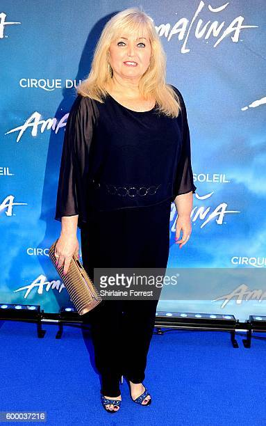 Linda Nolan arrives at the press night for Cirque Du Soleil's 'Amaluna' at The Big Top Intu Trafford Centre on September 7 2016 in Manchester England