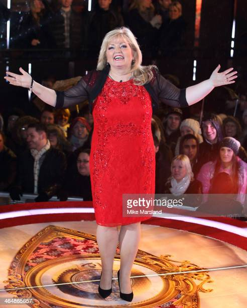Linda Nolan is evicted from the Celebrity Big Brother House at Elstree Studios on January 24 2014 in Borehamwood England