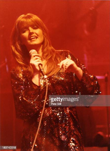 Linda Nolan of The Nolans performs on stage at the Dominion Theatre on November 30th 1982 in London England