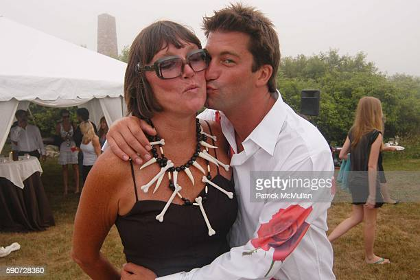 Linda O'Connell and Charlie O'Connell attend Junko Yoshioka Presents Her Evening Wear Collection at Peter and Nejma Beard Residence on July 16 2005...