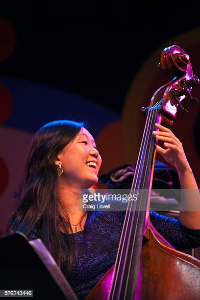 Linda Oh plays base with the Joe Lovano and Dave Douglas Quartet on the Jimmy Lyons Stage at the Monterey Jazz Festival Monterey California