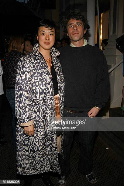Linda Park and Carter Lupe attend LOUIS VUITTON INTERVIEW MAGAZINE Party for Pharrell Williams and Nigo at Louis Vuitton in Soho on May 24 2005 in...