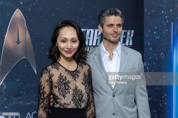 Linda Park and Daniel Bess arrive for the Premiere Of CBS's Star Trek Discovery at The Cinerama Dome on September 19 2017 in Los Angeles California