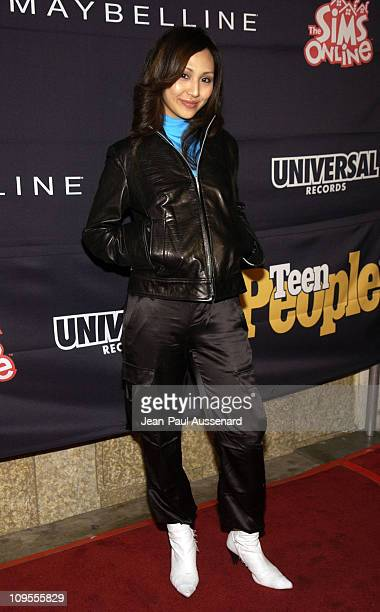 Linda Park during Teen People and Universal Records Honor Nelly as the 2002 Artist of the Year Arrivals at Ivar in Hollywood California United States