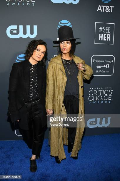Linda Perry and Sara Gilbert at Claire Foy Accepts The #SeeHer Award At The 24th Annual Critics' Choice Awards The Barker Hanger on January 13 2019...