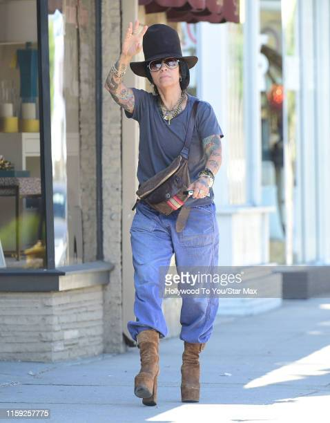 Linda Perry is seen on August 02 2019 in Los Angeles California