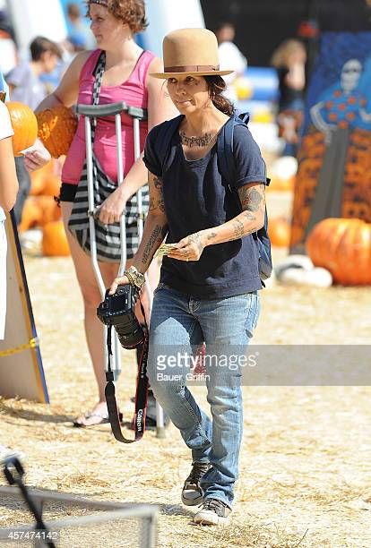 Linda Perry is seen on October 18 2014 in Los Angeles California