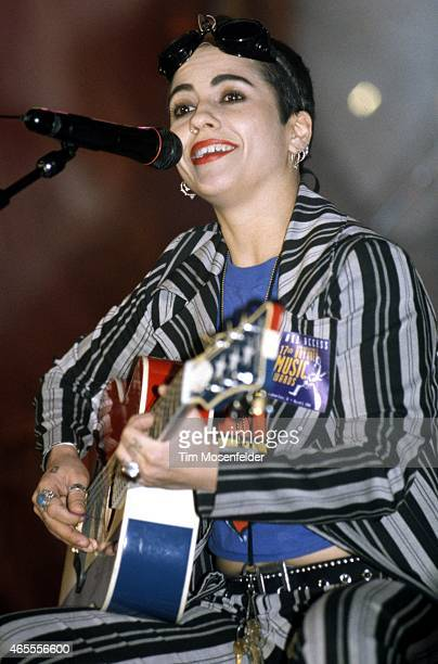 Linda Perry of 4 Non Blondes performs as part of the the Bammies at the Bill Graham Civic Auditorium on March 05 1994 in San Francisco California