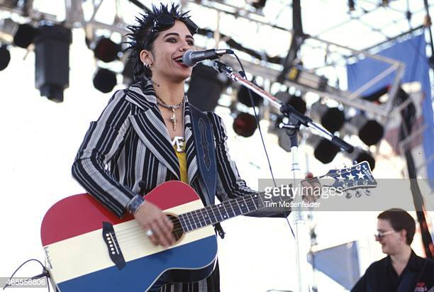 Linda Perry of 4 Non Blondes performs at Laguna Seca Daze on May 29 1994 in Laguna Seca California